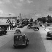 Photo - NW 23 Street and Walker in Oklahoma City, May 11, 1936, during the road's heyday as part of old Route 66.   Alphia O. Hart - The Oklahoman