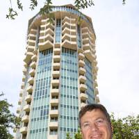 Photo - Jeff Smith, president and CEO of PrimeSource Mortgage, outside Founders Tower, where the company moved from Roswell, N.M., last year.  David McDaniel - The Oklahoman