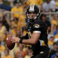 Photo - University of Missouri quarterback Chase Daniel prepares to pass the ball during the second quarter of an NCAA college football game against University at  Buffalo, Saturday, Sept. 20, 2008, in Columbia, Mo. (AP Photo/L.G. Patterson) ORG XMIT: MOJR105