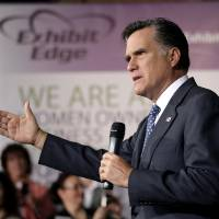 Photo -   Republican presidential candidate, former Massachusetts Gov. Mitt Romney speaks at a campaign stop in Chantilly, Va., Wednesday, May 2, 2012. (AP Photo/Jae C. Hong)