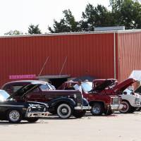 Photo - Participants stand alongside their cars during the 2012 Open Class Car Show at Douglas Boulevard United Methodist Church in Midwest City. Photo provided
