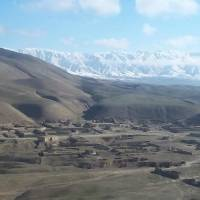 Photo - A view of Afghanistan from the sky in January 2012. 1st Lt. Neil Gikas is a participant in the multimedia project Viking's War, a virtual embed with the National Guard. He took this photo on his way into the country.