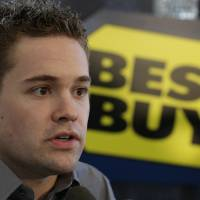 Photo - Driver Ricky Stenhouse Jr. talks to the media at a news conference during the NASCAR Sprint Cup Media Tour in Charlotte, N.C., Thursday, Jan. 24, 2013. (AP Photo/Chuck Burton)