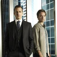 Photo -  SUITS -- Season:1 -- Pictured: (l-r) Gabriel Macht as Harvey Specter, Patrick Adams as Mike Ross -- Photo by: Frank Ockenfels/USA Network