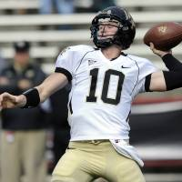Photo -   Wake Forest quarterback Tanner Price (10) drops back to pass against Maryland during the first half of an NCAA football game, Saturday, Oct. 6, 2012, in College Park, Md. (AP Photo/Nick Wass)