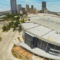 Photo - Chesapeake Energy Arena as seen from Price Edwards & Co.'s drone.   - PROVIDED BY PRICE EDWARDS & CO.