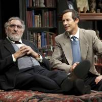 Photo - This 2012 theater image released by Jim Randolph Media Relations shows Judd Hirsch as Sigmund Freud, left, and Tom Cavanagh as C. S. Lewis in Mark St. Germain's