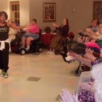 Photo - Tori Collier leads a Zumba session at Grace Living Center in Norman. Her visits have become popular with  residents and staff members. Photo  provided by Grace Living Center.  PROVIDED - PROVIDED