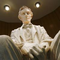 Photo -  Large statue of Abraham Lincoln on display at the Cowboy and Western Heritage Museum in OKlahoma City Tuesday afternoon, Feb. 10, 2009   BY JIM BECKEL, THE OKLAHOMAN