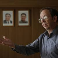 Photo - Jeffrey Fowle, an American detained in North Korea, speaks to the Associated Press, Monday, Sept. 1, 2014 in Pyongyang, North Korea. North Korea has given foreign media access to three detained Americans who said they have been able to contact their families and watched by officials as they spoke, called for Washington to send a representative to negotiate for their freedom. (AP Photo/Wong Maye-E)