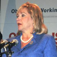 Photo - Gov. Mary Fallin speaks Wednesday at a Republican news conference in Charlotte, N.C. Photo by Chris Casteel, The Oklahoman