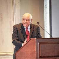 Photo - Herman Boone was at the Petroleum Club to address Southern Nazarene University's Peer Learning Network. PHOTO PROVIDED