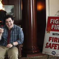 Photo - This undated publicity photo released by NBC shows Josh Gad as Skip in a scene from
