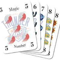 Photo - PLAYOFFS / GRAPHIC / OKLAHOMA CITY THUNDER / NBA BASKETBALL / DECK OF PLAYING CARDS / MAGIC NUMBERS / PORTLAND TRAIL BLAZERS
