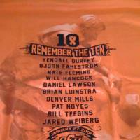 Photo - OSU shirts that will be passed out at tonight's game. PHOTO PROVIDED