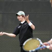 Photo - HIGH SCHOOL TENNIS / STATE TOURNAMENT: Jonathan Kraft, left, and John Byrne of Bishop McGuinness compete in the state tennis tournament in Oklahoma City, Saturday, May 15, 2010.  Photo by Bryan Terry, The Oklahoman ORG XMIT: KOD