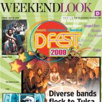 Photo - DFEST GRAPHIC with photos, from top right, clockwise: 1) 2009 Dfest LOGO / GRAPHIC      2) The Black Crowes, rock band     3) MUSIC / GROUP / BAND: Cake       ©Photo Jay Blakesburg P.O 460054 SF, CA 94146 10/36     4)  MUSIC / GROUP / BAND: Uglysuit      5)    MUSIC / GROUP / BAND: Dengue Fever