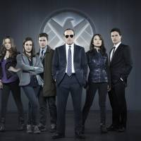 "Photo - This publicity photo released by ABC shows from left, Chloe Bennet, Elizabeth Henstridge, Iain De Caestecker, Clark Gregg, Ming-Na Wen, and Brett Dalton in Marvel's ""Agents of S.H.I.E.L.D,"