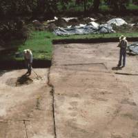 Photo - This 1991 photo made available by the South Carolina Institute of Archeology and Anthropology shows excavations of the Spanish settlement of Santa Elena on Parris Island, SC., in 1991. The town of Santa Elena was established in 1566 and served as Spain's colonial capital on the continent until 1576.  It was abandoned in 1587. The nonprofit Santa Elena Foundation plans to open an exhibit that tells of Santa Elena and its role in the European struggle for control of North America.  (AP Photo/South Carolina Institute of Archeology and Anthropology)