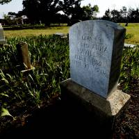 Photo -  The grave of Ona Havill is marked by a headstone at Independence Cemetery in rural Norman. Havill was one of 40 victims of a fire that swept through the state mental hospital April 13, 1918. PHOTO BY STEVE SISNEY, THE OKLAHOMAN   STEVE SISNEY -
