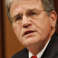 Photo - Senate Judiciary Committee member Sen. Tom Coburn, R-Okla. speaks on Capitol Hill in Washington, Monday, July 13, 2009, during the committee's confirmation hearing for Supreme Court nominee Judge Sonia Sotomayor.  (AP Photo/Ron Edmonds) ORG XMIT: WCAP139