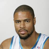 Photo - ** FILE ** This is a Sept. 26, 2008 file photo showing New Orleans Hornets' Tyson Chandler. The Oklahoma City Thunder have acquired center Tyson Chandler from New Orleans in a deal that sends veterans Joe Smith and Chris Wilcox to the Hornets.  (AP Photo/Bill Haber, File) ORG XMIT: NY162