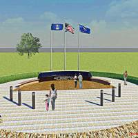 Photo - This rendering shows the proposed Midwest City Veterans Memorial to be located in Joe Barnes Regional Park in Midwest City. Provided By Quinn & Associates  Provided By Quinn & Associates - Provided By Quinn & Associates