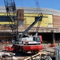 Photo - Taxpayer-funded renovations continue at Chesapeake Energy Arena, but the NBA lockout could mean Oklahoma City has to miss a year of return on its investment.  JIM BECKEL - The Oklahoman