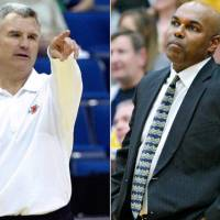 Photo - Illinois coach Bruce Weber and UCO's Terry Evans are possibilities for the next OU men's basketball coach. (Archive photos)