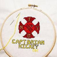 Photo - Memorial Institute for the Prevention of Terrorism (MIPT)  has recently launched a searchable database of terrorism victims for the  public to view at www.mipt.org.  The database includes more than 4,000 cross-stitched squares bearing  the names of Americans killed in acts of terrorism, and each square,  serving as a memorial, can be viewed up-close. Terrorist events included  in the database are the Oklahoma City bombing, incidents of September 11,  2001, as well as the bombing of the Beirut barracks. Events cover the  timeframe from 1970 to 2005.  Provided