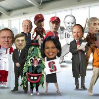 Photo - The new College Football Playoff committee. ILLUSTRATION BY ROB BACKUS, The Oklahoman