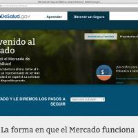 Photo - This screenshot made Nov. 26, 2013, shows the Department of Health and Human Services' web page for the Spanish language version HealthCare.gov. The nation's largest minority group risks being left behind by President Barack Obama's health care overhaul. Hispanics account for about one-third of the nation's uninsured, but all signs indicate that they remain largely on the sidelines as the White House races to meet a goal of 6 million sign-ups by March 31. (AP Photo/U.S. Department of Health and Human Services)