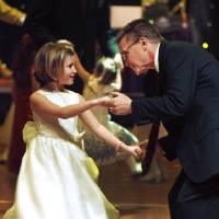 Photo -  FATHER DAUGHTER DANCE: Zoe Trenary, 8, and her dad BW Trenary dance during the annual Daddy Daughter Dance sponsored by the Norman Parks and Recreation Department at the Embassy Suites Sat. Feb. 6, 2010. Photo by Jaconna Aguirre, The Oklahoman. ORG XMIT: KOD