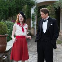 "Photo -   Emma Stone, left, as Sophie and Colin Firth as Stanley, are shown in a scene from ""Magic in the Moonlight,"" directed by Woody Allen. AP Photo/Sony Pictures Classics, Jack English   Jack English -  AP"
