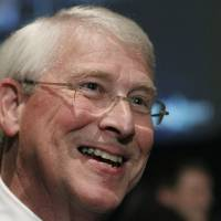 Photo -   U.S. Sen. Roger Wicker, R-Miss., speaks to reporters following his victory speech after he is declared the winner to a second term in Jackson, Miss., Tuesday evening, Nov. 6, 2012. (AP Photo/Rogelio V. Solis)