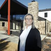 Photo - Jill Walker, with Maccini Construction, shows a home her company recently built at 6614 N. Penn in Nichols Hills, OK, Monday, December 10, 2012,  By Paul Hellstern, The Oklahoman