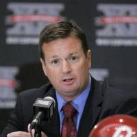 Photo - University of Oklahoma head coach  Bob  Stoops is shown during Big 12 Media Day in Irving, Texas, Tuesday, July 28, 2009. (AP Photo/Donna McWilliam)