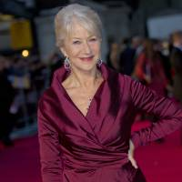 Photo - FILE- British actress Helen Mirren in London, for the United Kingdom Premiere of 'The Debt', in this file photo dated Wednesday, Sept. 21, 2011.  Mirren is widely seen as a favorite to reign as best actress for her performance as Queen Elizabeth II in