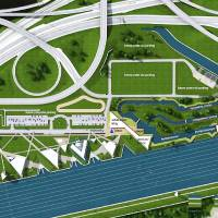 Photo - A conceptual design shows the proposed white-water kayaking and rafting facility in the Boathouse District near downtown Oklahoma City. Photo provided by S2o Design