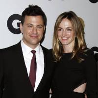 Photo -   FILE - This Nov. 17, 2011 file photo shows late night talk show host Jimmy Kimmel, left, and Molly McNearney arrive at the 16th annual GQ