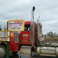 Photo - A truck driver passing through Valliant stops at the first Sonic Drive-In to feature a stall built specifically for semitrailer trucks.   - PROVIDED BY SONIC