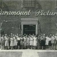 Photo -  The Paramount staff, circa 1930s, Oklahoma City's Film Row. The building still stands with some incredible architecture inside.