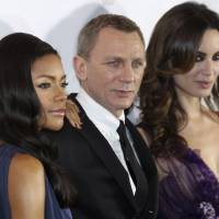 "Photo - Actors Daniel Craig, center, Naomie Harris, left, and Berenice Marlohe attend the premiere of the latest James Bond film, ""Skyfall,"" in Sydney, Australia on Nov. 16. AP Photo"