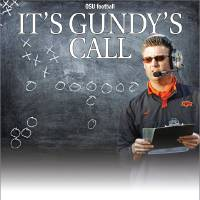 Photo - IT'S GUNDY'S CALL GRAPHIC with photo: Oklahoma State coach Mike Gundy leads his team against Indiana in the first half during the Insight Bowl college football game between Oklahoma State University (OSU) and the Indiana University Hoosiers (IU) at Sun Devil Stadium on Monday, Dec. 31, 2007, in Tempe, Ariz.   BY NATE BILLINGS, THE OKLAHOMAN