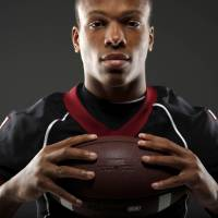 Photo - HIGH SCHOOL FOOTBALL: All-State football player Kevin Peterson, of Wagoner, poses for a photo in Oklahoma CIty, Wednesday, Dec. 14, 2011. Photo by Bryan Terry, The Oklahoman