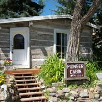 Photo -  Pioneer Cabin, built in 1864, recalls the gold-rush beginnings of Helena, Mont. Photo courtesy of Adriana Gardella.