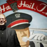 Photo - In this Nov. 19, 2013 photo, Ohio State University marching band director Jon Waters poses for a photograph at the Steinbrener Band Center in Ohio Stadium before practice, in Columbus Ohio. OSU on Thursday, July 24, 2014 fired Waters amid allegations he knew about and ignored
