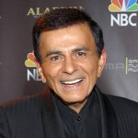 Photo - FILE - In this Oct. 27, 2003 file photo, Casey Kasem poses for photographers after receiving the Radio Icon award during The 2003 Radio Music Awards at the Aladdin Resort and Casino in Las Vegas. A judge in Washington state has granted Kasem's daughter a temporary restraining order preventing the famous radio host's wife from cremating or removing his remains from a funeral home. Kasem, the radio host of