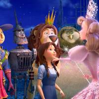 Photo -       Marshal Mallow (voice of Hugh Dancy), China Princess (voice of Megan Hilty), Scarecrow (voice of Dan Aykroyd), Tin Man (voice of Kelsey Grammer), Dorothy (voice of Lea Michele), Lion (voice of James Belushi), Wiser (voice of Oliver Platt) and Glinda (voice of Bernadette Peters) in Legends of Oz: Dorothy's Return.