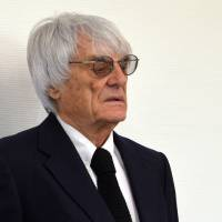 Photo - Formula One boss Bernie Ecclestone waits in the court in Munich , southern Germany,  Tuesday, July 1, 2014. Ecclestone is charged with bribery and incitement to breach of trust